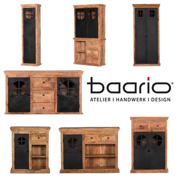 Möbelserie DEU - Massivholz & Eisen Industrial Design - Möbelserie DEU - Industrial Design | baario®