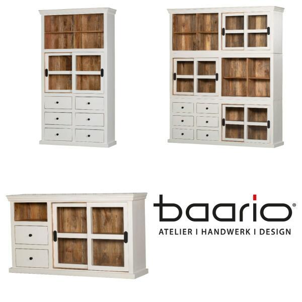Möbelserie DUBB - Massivholz in weiß/braun - Möbelserie DUBB - Landhaus Design | baario®